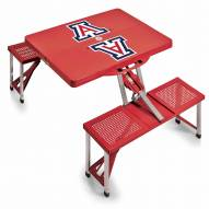 Arizona Wildcats Red Folding Picnic Table