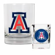 Arizona Wildcats Rocks Glass & Shot Glass Set