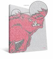 """Arkansas Razorbacks 16"""" x 16"""" Typo Canvas Print"""
