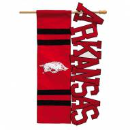 Arkansas Razorbacks Applique Garden Flag