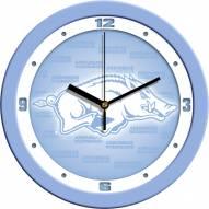 Arkansas Razorbacks Baby Blue Wall Clock