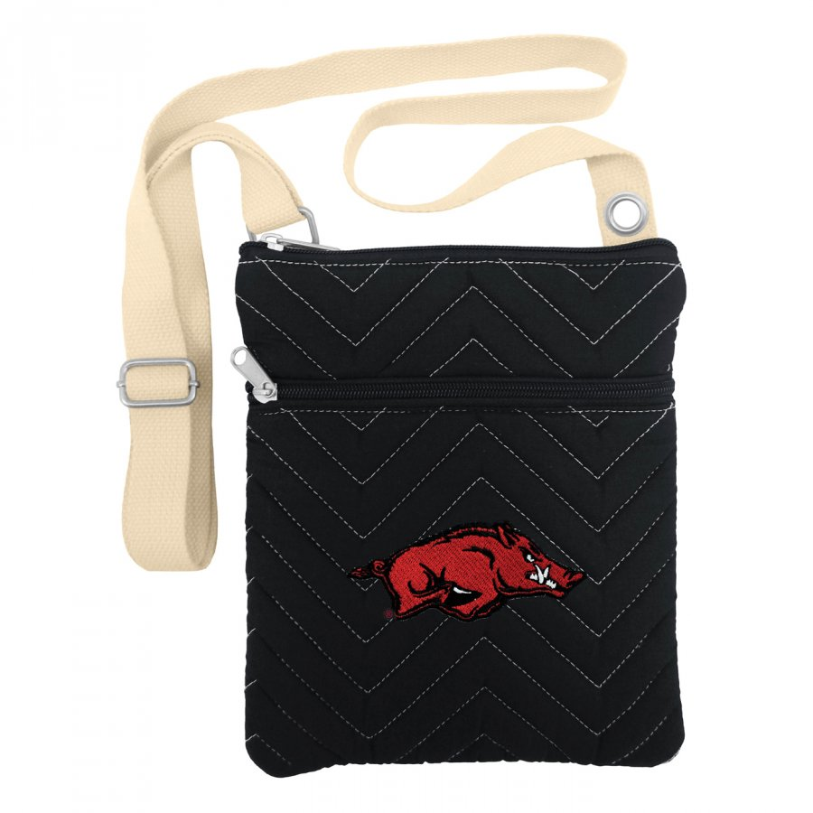 Arkansas Razorbacks Chevron Stitch Crossbody Bag