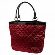 Arkansas Razorbacks Dark Red Quilted Tote Bag
