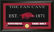 Arkansas Razorbacks Fan Cave Bronze Coin Panoramic Photo Mint