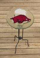 Arkansas Razorbacks Glass Bird Bath