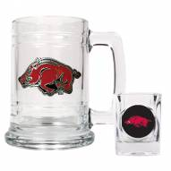 Arkansas Razorbacks Glass Mug & Shot Glass Set