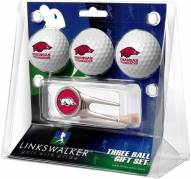 Arkansas Razorbacks Golf Ball Gift Pack with Cap Tool