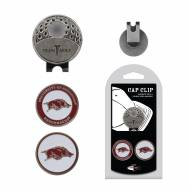 Arkansas Razorbacks Hat Clip & Marker Set