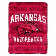 Arkansas Razorbacks Micro Grunge Blanket