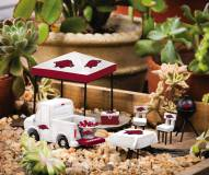 Arkansas Razorbacks Mini Tailgate Garden Set