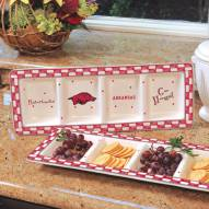 Arkansas Razorbacks NCAA Ceramic Relish Tray