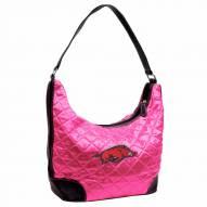 Arkansas Razorbacks Pink Quilted Hobo Handbag