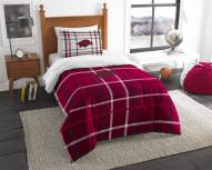 Arkansas Razorbacks Plaid Twin Comforter Set