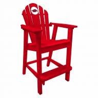 Arkansas Razorbacks Pub Captain Chair