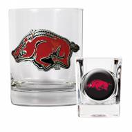 Arkansas Razorbacks Rocks Glass & Shot Glass Set