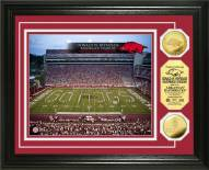 Arkansas Razorbacks Stadium 24KT Gold Coin Photomint