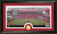 Arkansas Razorbacks Stadium Bronze Coin Panoramic Photo Mint