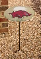 Arkansas Razorbacks Staked Bird Bath