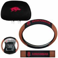 Arkansas Razorbacks Steering Wheel & Headrest Cover Set