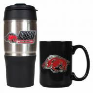 Arkansas Razorbacks Travel Tumbler & Coffee Mug Set