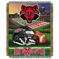 Arkansas State Red Wolves Home Field Advantage Throw Blanket