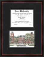 Arkansas Razorbacks Diplomate Framed Lithograph with Diploma Opening