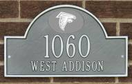 Atlanta Falcons NFL Personalized Address Plaque - Pewter Silver