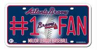 Atlanta Braves #1 Fan License Plate