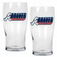 Atlanta Braves 20 oz. Pub Glass - Set of 2