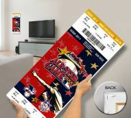 Atlanta Braves 2000 All Star Game Mega Ticket Canvas Art
