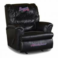 Atlanta Braves Big Daddy Leather Recliner