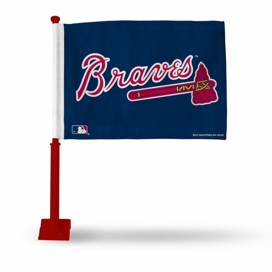 Atlanta Braves Car Flag with Red Pole