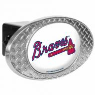 Atlanta Braves Metal Diamond Plate Trailer Hitch Cover