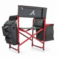 Atlanta Braves Gray/Red Fusion Folding Chair