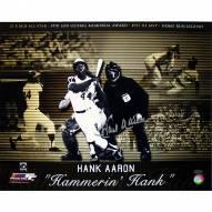 "Atlanta Braves Hank Aaron ""Hammerin Hank"" Career Collage Signed 16"" x 20"" Photo"