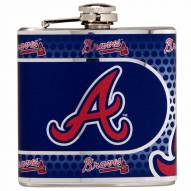 Atlanta Braves Hi-Def Stainless Steel Flask
