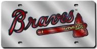 Atlanta Braves Laser Cut License Plate
