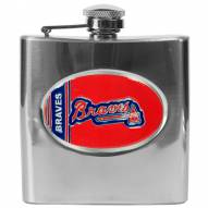 Atlanta Braves MLB 6 Oz. Stainless Steel Hip Flask