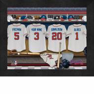 Atlanta Braves Personalized Locker Room 11 x 14 Framed Photograph