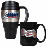 Atlanta Braves Travel Mug & Coffee Mug Set