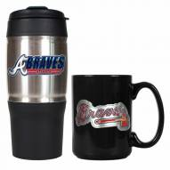 Atlanta Braves Travel Tumbler & Coffee Mug Set