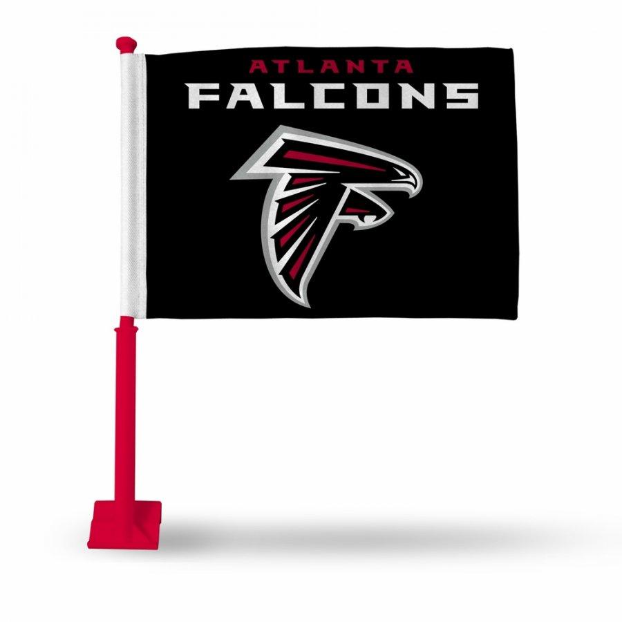 Atlanta Falcons Car Flag with Red Pole