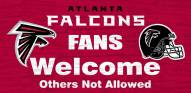 Atlanta Falcons Fans Welcome Wood Sign