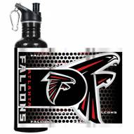 Atlanta Falcons Hi-Def Black Stainless Steel Water Bottle