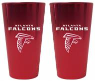 Atlanta Falcons Lusterware Pint Glass - Set of 2
