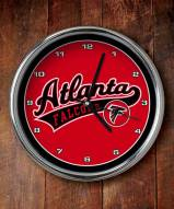 Atlanta Falcons NFL Chrome Wall Clock