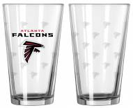 Atlanta Falcons Satin Etch Pint Glass - Set of 2