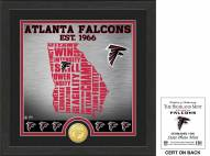 Atlanta Falcons State Bronze Coin Photo Mint