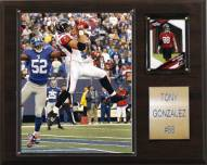 "Atlanta Falcons Tony Gonzalez 12 x 15"" Player Plaque"