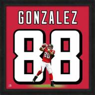 Atlanta Falcons Tony Gonzalez Uniframe Framed Jersey Photo